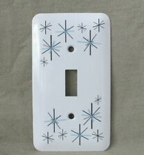 Atomic Starburst - Metal Light Switch Cover - North Star Style Pattern -New- Sm