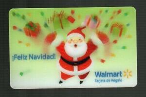 WALMART ( Puerto Rico ) Santa Claus 2011 Lenticular Gift Card ( $0 )