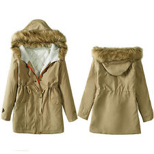 2017 New Womens Jacket Hooded Winter Parka Coats Tops Ladies Coat Outwear Cotton