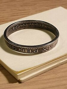 Coin Ring  - Crafted from British Sixpence Various Dates - Whats yours.