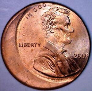 2000 ERROR Off Center Lincoln Cent Coin SUPER NICE GEM BU O/C Penny LOT #7   NR