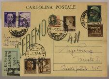 STORIA POSTALE RSI 50 + 30 c. PROPAGANDA GUERRA  E 10 + 5 c. GNR 1944 #SP387
