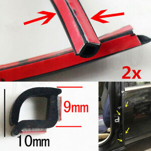 "2pcs 31"" B Pillar Rubber Seal Strip Car Rear Door Hinge Weatherstrip Universal"