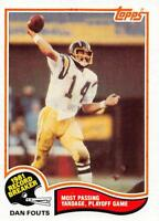 1982 Topps Football Cards Pick From List Includes Rookies 1-200