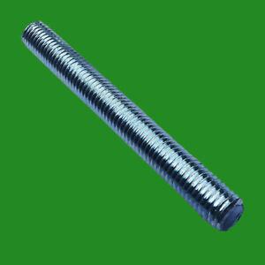 12x M12 100mm x 12mm Stud, Threaded Rod, BZP Bright Zinc Plated, Solid Allthread