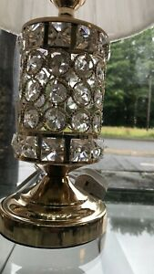Thin metallic frame crystallic table lamp with incorporated LED [CDG01]