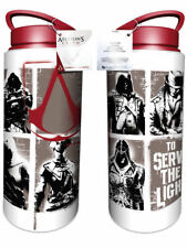 Assassins Creed Stencil Aluminium Drink Water Bottle Outdoors Walking Cycling