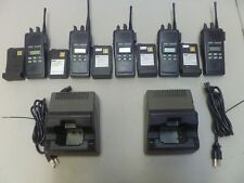 FIVE Ericsson LPE-200 KRD103103/A203R2A Two Way Radios with 2 Bases & Cords g264