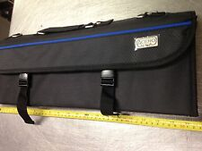 """Chef's Knife Bag Case Canvas with Heavy Carry Handle Black up to 18"""" Long Knives"""