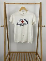 VTG Hanes 70s Be A Chest Pressers Learn CPR Super Thin T-Shirt Size L USA
