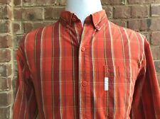 COLUMBIA Men's 100% Cotton Long Sleeve Button Front Casual Shirt Size L Large