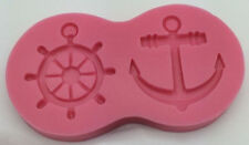 Anchor and Ship's Wheel Silicone Mold for Fondant, Gum Paste, Chocolate, Crafts