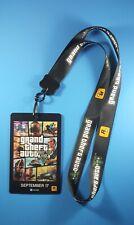 Grand Theft Auto 5 Gta Video Game Promo Lanyard Keychain Badge Rockstar Games!