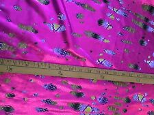 Dance Lycra Fabric By The Metre Pink Reptile