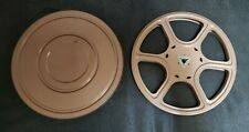 "8mm 7"" Metal Reel and Case Movie Film Take-Up Reel 400' Dual 8mm"