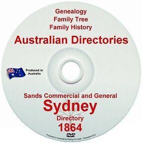 Family History Tree Genealogy Directory Sands Sydney NSW Streets Names Suburbs
