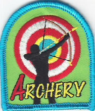 """ARCHERY""  - IRON ON EMBROIDERED PATCH/Sport, Games, Competition"