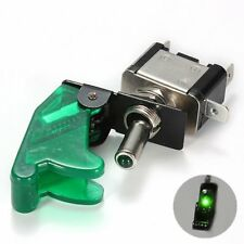 Light Ignition Switch Toggle with Cover Constant 20 Amps 12-Volts Green