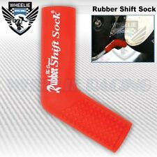 MOTORCYCLE SPORT BIKE SHIFTER SHIFT SOCK SHOES & BOOTS PROTECT SCUFF DIRT RED