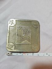 1980 *Xiii Olympic Winter Games - Lake Placid* Belt Buckle