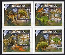 Guinea Bissau 2011 - Dinosaurs- perforated DeLuxes  stamps.- MNH**