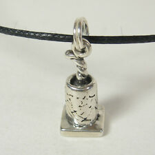 Fire Cracker Candle Charm Pendant Necklace .925 Sterling Silver USA Made Holiday