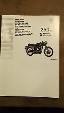 Ducati 250cc 5 Velocidad Mk3 1964-65 y piezas del catálogo