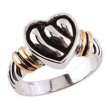 """Park Lane """"HEARTS DESIRE""""  RING - Silver, Gold & Black - Size 9 - Classic & Nice"""