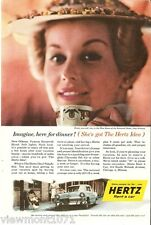 Hertz Chevrolet Bel air Advertisement 1956 Rockabilly  car vehicle ad