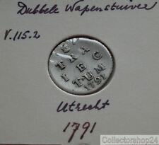 Coin / Munt Netherlands 1791 Dubbele wapen stuiver Utrecht
