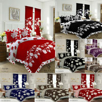 KING SIZE 4 PCS COMPLETE BEDDING SET - DUVET COVER FITTED SHEET 2 PILLOW CASES.