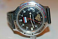 Watch Vostok Komandirskie Wostok Vintage Wristwatch USSR Rare Russia Soviet Flag