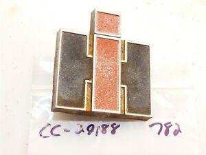 Cub Cadet 682 782 Tractor Grille Emblem - die-cast