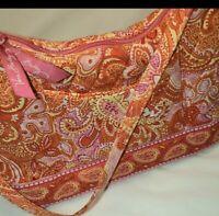 Vera Bradley Small Purse White,pink,orange, paisley Shoulder strap Pre-owned