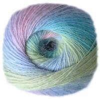KUNSTGARN Wolle Sockenwolle Strickwolle Lacewolle Stricken Lace FARBVERLAUF 26