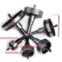 6× 22-65mm HSS Lochsage Bohrer Werkzeug fur Edelstahl Holz Metall und Schlüssel