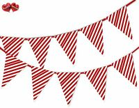 Reindeer Snowflake Red Christmas Bunting Banner 15 flags by PARTY DECOR