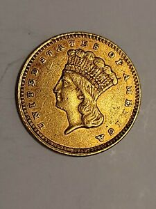 1861 Indian Princess Gold Dollar, Type 3.  Wonderful condition.  Lucky Find.