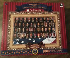"""Smithsonian """"Presidents"""" 1000 Piece Jigsaw Puzzle-used"""