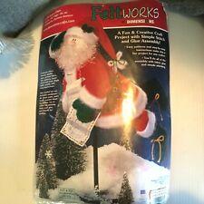 "Christmas 18"" Santa Felt Decor Craft Kit Dimensions 8109"