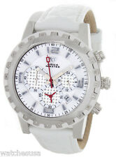 Aqua Master Black Band White Dial Chrono Diamond Mens Watch W151
