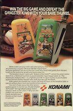 Vtg. 1990 KONAMI handheld electronic BAYOU BILLY lcd video game print ad