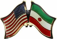 USA American Iran Flag Bike Motorcycle Hat Cap lapel Pin