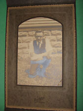 Ancestor Photo Man w/ Horn Rimmed Glasses Priddis Studio Kenosha Wisconsin