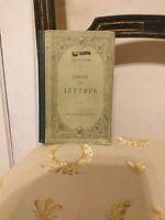 Cicéron : Choix de Lettres  – Hachette 1893 BE