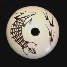 Sylvia Naha Feather Woman Hopi seed pot lizard & corn Design