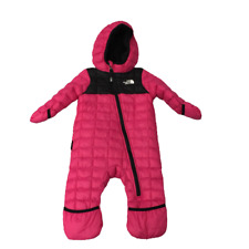 The North Face Pink Infant Lil Snuggler Down Snowsuit 6-12 M