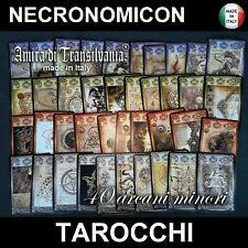 tarocchi mazzo di carte necronomicon lovercraft arcani minori libro guida nuovi