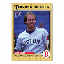 🛑 WADE BOGGS 2021 TOPPS NOW TURN BACK THE CLOCK #173 BOSTON RED SOX 🔥