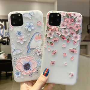 For iPhone SE 2020 11 Pro Max XS  XR X 8 7 6S Cherry Blossoms Flower Case Cover